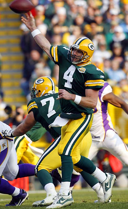 Retired (we think) Packer quarterback Brett Favre finished his career on a streak of 253 consecutive regular-season starts. If you include the playoffs, the number jumps to 275. Giants punter Jeff Feagles holds the all-time record, playing in an NFL-record 320 consecutive regular season.