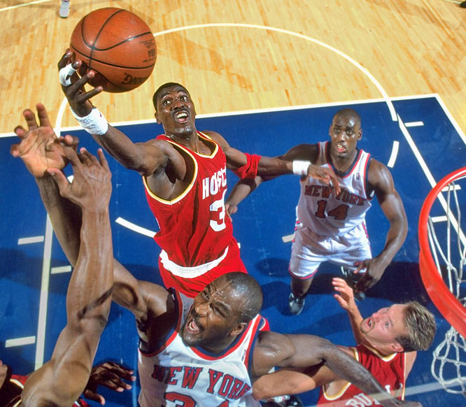 Only four players have pulled off a quadruple double, including Hall of Fame center Hakeem Olajuwon, who had 18 points, 16 rebounds, 10 assists and 11 blocks on March 29, 1990, against Milwaukee.
