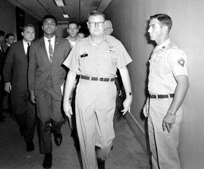 After a mere 21 minutes of deliberation, a jury finds Muhammad Ali guilty of refusing to be inducted into the U.S. Army. Ali was banned from boxing for three years. The verdict was overturned by the Supreme Court in 1971.