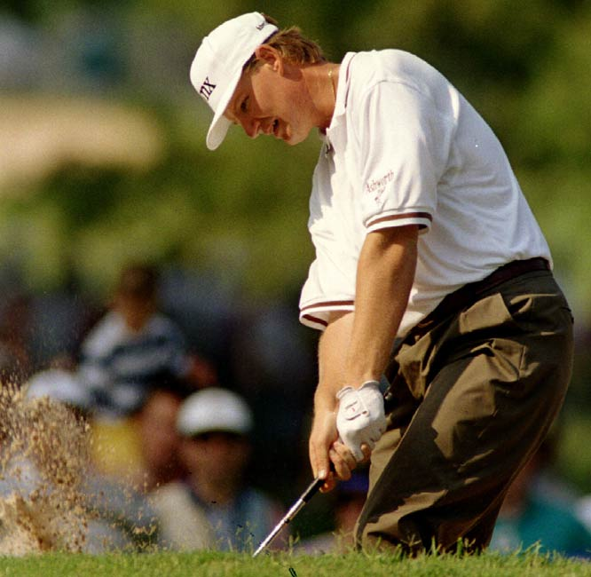 At 24, Ernie Els wins the U.S. Open, his first major championship.