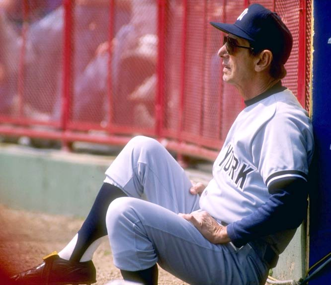 The Yankees fire manager Billy Martin for the fifth time and name Lou Piniella manager.