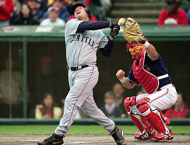 Edgar Martinez passes Ken Griffey Jr.'s mark for team career RBIs. His two-run homer in the Mariners 10-6 victory over the Angels gives the All-Star designated hitter 1,153 RBIs -- one more than Junior.