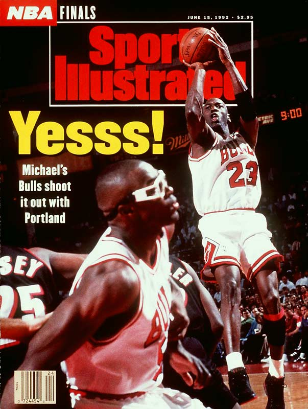 Facing a 15-point deficit to start the fourth quarter, the Bulls staged a 14-2 run while Michael Jordan rested. Jordan took over from there, scoring 12 of his 33 points in the final six minutes as Chicago rallied past Portland 97-93 to clinch its second championship in a row.