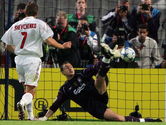 Despite being down 3-0 at halftime, Liverpool refused to quit in the second half, pulling even with the Italians with goals from Steven Gerrard, Vladimír Šmicer and Xabi Alonso. Following 30 scoreless minutes of extra time, Liverpool prevailed with a 3-2 victory in the penalty shootout to capture their fifth European Cup.
