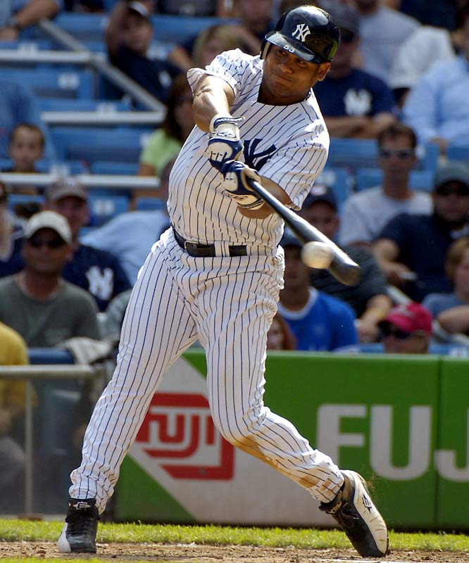 With Gary Sheffield and Hideki Matsui injured, the Yankees needed a productive bat in the outfield. In exchange for four minor league prospects, the Yankees grabbed Abreu, who batted .330 with a .507 slugging percentage after the trade.