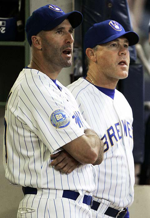 With just 12 games left in the regular season, the Brewers let manager Ned Yost go, replacing him with Dale Sveum, one of the members of Yost's coaching staff. The Brewers held on to win the wild card, their first playoff berth in 26 years, but they lost to the Phillies in the NLDS. That offseason, they hired Ken Macha as manager and moved Sveum back to a coaching role.