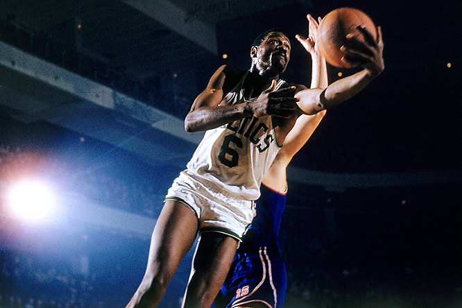 Maybe the greatest defensive force in history, and the cornerstone of the Celtics dynasty of the 1960s. The 6-9 Russell was an uncanny shotblocker and one-on-one defender who revolutionized defensive concepts with his ability to dominate a game on that end of the court. He always delivered in the postseason, thwarting foes from Wilt to West as Boston racked up 11 NBA titles in 13 seasons.
