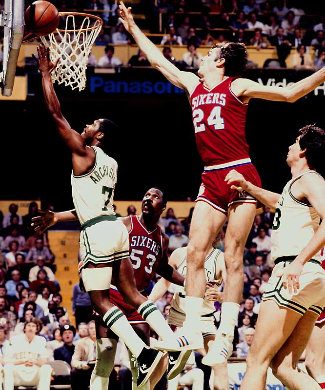 Dr. J. and Moses might not have won their '83 NBA title without the services of this 6-9 forward, who used exceptional footwork and hustle to earn eight first-team All-Defense selections. Jones was a key member of three Sixers Finals teams, and his key steal against the Bucks in the closing seconds of Game 1 of the Eastern Conference finals saved a 111-109 OT victory and helped propel Philly on its way to that '83 crown.