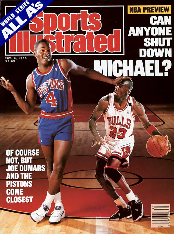 Known as the classy quiet member of the great Pistons Bad Boys teams that made three straight Finals and won back-to-back titles in '89 and '90, Dumars was nonetheless a defensive nightmare. Strong and smart, he hounded opposing shooting guards with a tenacity seldom seen. Even Jordan, the target of Detroit's so-called Jordan Rules, called him the toughest defender he ever faced.