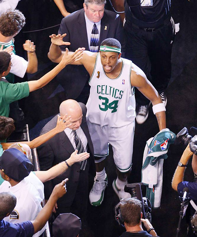 Paul Pierce scored a team-high 28 points and made all four of his three-point attempts in the Celtics' 108-102 victory in Game 2. Boston improved to 12-1 at home in the postseason.