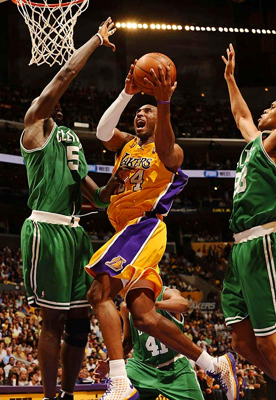 Kobe Bryant struggled mightily with his shot in Boston, but he returned to form in the friendly confines of the Staples Center. Bryant guided the Lakers to their first win of the series Tuesday, scoring 36 points on 12-of-20 shooting from the floor.