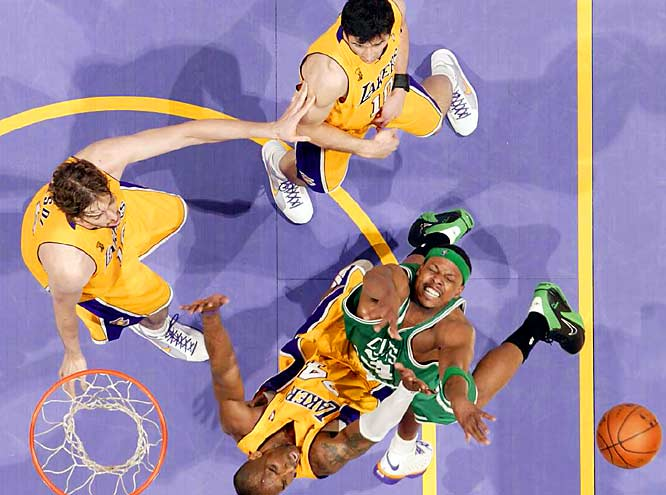 Paul Pierce rebounded from a poor Game 3 to score 20 points and hand out seven assists. He also played strong defense on Kobe Bryant down the stretch.