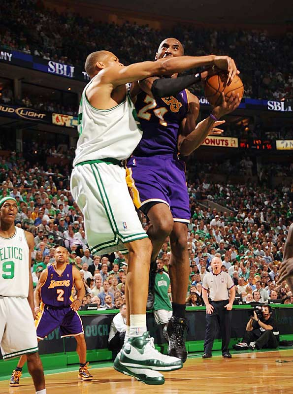 Game 6 was a microcosm of the series for Kobe Bryant, who shot 7-of-22 from the field and committed four turnovers. The Celtics limited the league's MVP to an average of 25.7 points on 40.5 percent shooting in the Finals.