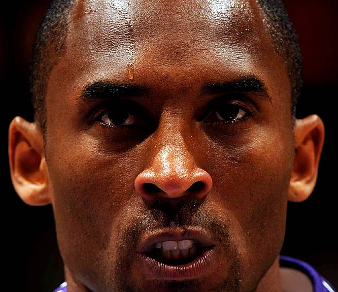 The Lakers cruised through the 2008-09 regular season and, after being pushed by Houston and Denver in the Western Conference playoffs, defeated Orlando in five games in the Finals. An intense Kobe -- who said his daughters called him Grumpy because of his disposition during the championship round -- won his first title without Shaq and fourth overall.