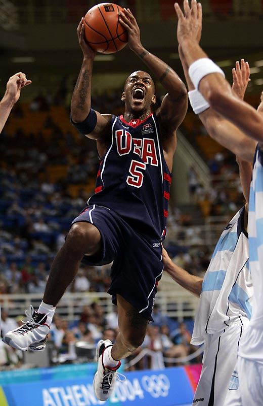 Inspired by their country's humiliation at the 2002 FIBA Worlds, a number of NBA superstars like Allen Iverson, Tim Duncan and LeBron James elected to play in the Athens Games. But a shocking loss to Puerto Rico in the opener cast serious doubts on their gold medal hopes. The U.S. team followed up close wins over Greece and Australia with a second loss against Lithuania. The Americans still managed to qualify for the medal round (barely), but a semifinal loss to Argentina sealed their doom.