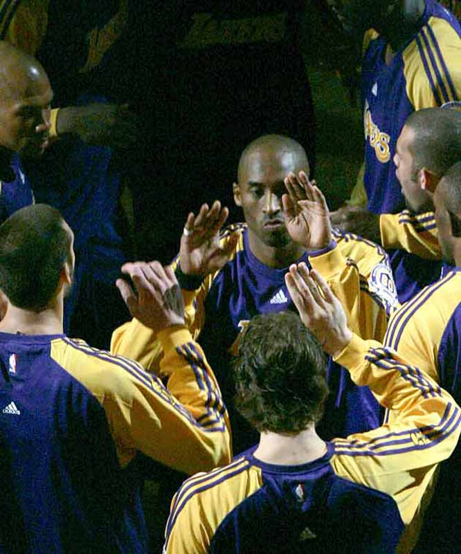 All things run through MVP Kobe Bryant, including the Lakers' pregame rituals.