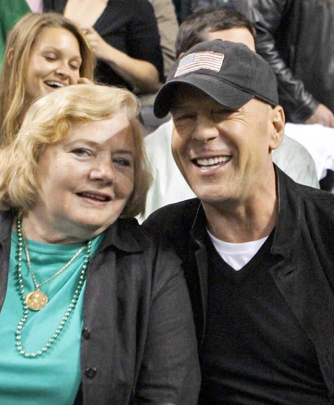 New Jersey native and lifelong Nets fan Bruce Willis takes in the sights and sounds of Game 1.