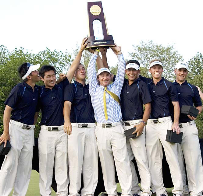 Senior Kevin Chappell made par on the 18th hole and finished at 2-under 286, giving UCLA a one-shot victory and it's first men's golf national title since 1988. Chappell also won the individual title.