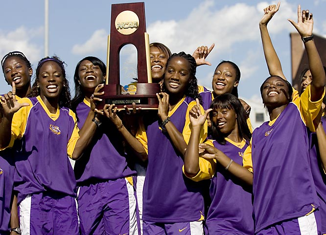 Entering the final event of the meet, LSU and Arizona State were tied for the team lead. But the Tigers got eight points for finishing second in the 1,600-meter relay, while ASU came home fifth. It marked the 14th women's outdoor title in LSU history.