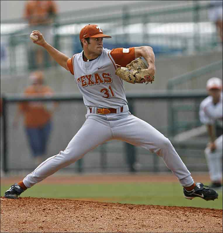 One of only two freshmen named to the Baseball America All-America team, the right-hander made the third team after holding opposing batters to a .191 batting average on his way to an 8-3 record. He was the only member of the Big 12 champion Longhorns named to the All-America team.