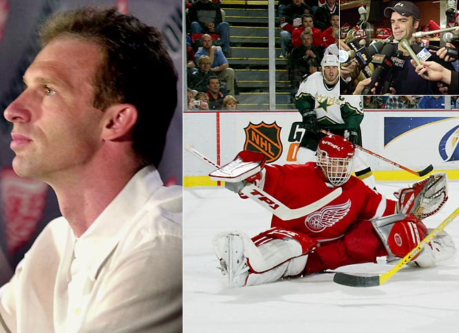 After playing at the 2002 Winter Olympics in Salt Lake City, Hasek announced his retirement, but was unable to stay away for more than a year. He returned to Detroit in 2003, but his season was marred by a groin injury that limited him to 14 games. There also was friction with incumbent netminder Curtis Joseph. The Wings then let Hasek sign with Ottawa in July 2004.