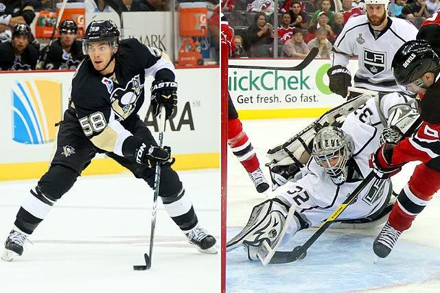 During the year in which the Penguins took Sidney Crosby first overall, they also landed cornerstone defenseman Kris Letang at 62. Jack Johnson (Hurricanes, No. 3) was the first of the 21 blueliners taken ahead of Letang. The Kings struck gold with Jonathan Quick (No. 72), who led them to silver (the Stanley Cup) in 2012. Goalies taken ahead of him: Kristofer Westblom (Wild, 65), Pier-Olivier Pelletier (Coyotes, 59), Ondrej Pavelec (Thrashers, 41), Jeff Frazee (Devils, 38), Tyler Plante (Panthers, 32), Tuukka Rask (Maple Leafs, 21) and Carey Price (Canadiens, 5). Other '05 notables: D Keith Yandle (Coyotes, 4th Rd. at 105) and RW Patric Hornqvist (Predators, 7th Rd. at 230 -- the last player taken in that draft.)