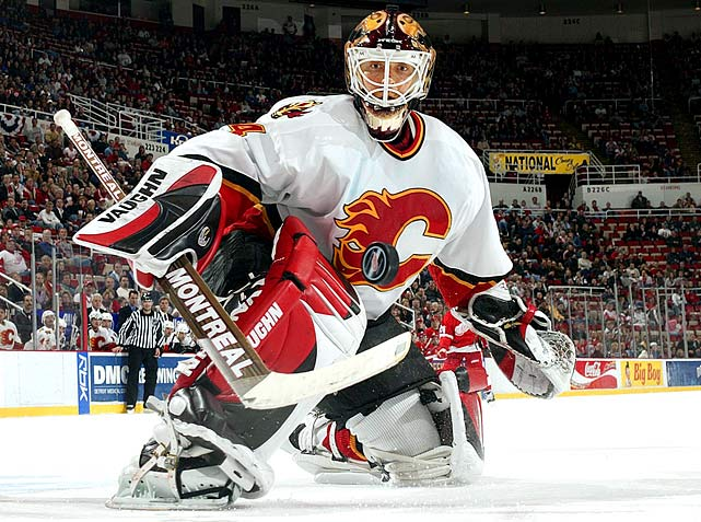 Netminders Jean-Sebastien Giguere (Hartford, No. 13), Martin Biron (Buffalo, 16), Brian Boucher (Philadelphia, 22) and Marc Denis (Colorado, 25) went in the first round. Kiprusoff, at 216 out of TPS Turku, Finland, never got a chance in San Jose, where he was stuck behind Evgeni Nabokov, but when Calgary acquired him in November 2003 trade for a 2005 second-round pick, the Flames landed a cornerstone goalie who would backstop them to the 2004 Stanley Cup Final and win the Vezina in 2005-06.