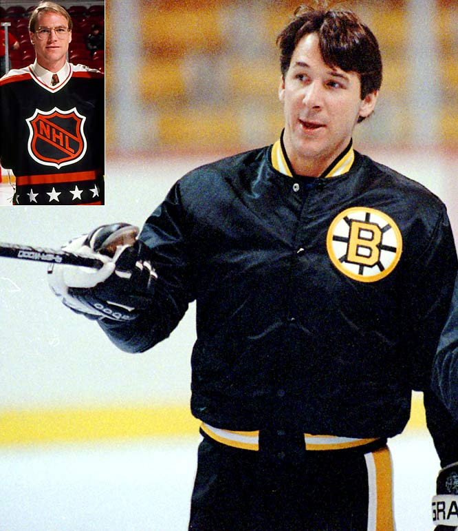 In 1991, Milbury, then the Bruins' coach, caused a stink by including enforcer Chris Nilan and checker Brian Skrudland (inset) on the Wales Conference All-Star team instead of the more skilled Guy Lafleur and Kirk Muller. Neither Nilan nor Skrudland are able to play due to injury.