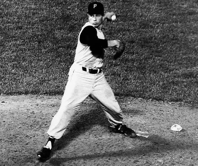 Pirates lefty Harvey Haddix suffered the ultimate near-miss on May 26, 1959. He retired the first 36 Milwaukee Braves he faced, but a fielding error by Don Hoak ended the perfect game in the bottom of the 13th. After a sacrifice bunt advanced the runner, Haddix intentionally walked Hank Aaron and then gave up a home run to Joe Adcock, killing the no-hitter and the shutout too. The game, however, ended 1-0 as Adcock passed Aaron on the basepaths in the excitement of the win.
