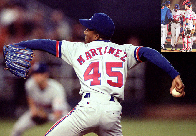 Montreal ace Pedro Martinez was perfect for nine innings, with nine strikeouts, but Padres starter Joey Hamilton was almost as good, having thrown a three-hit shutout to that point. Montreal plated a run in the top of the tenth, but Martinez gave up a leadoff double to Bip Roberts in the tenth. Reliever Mel Rojas then entered the game and preserved the win for Martinez.