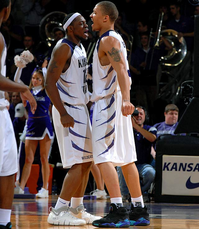 "On the Jan. 30, 2008 matchup between No. 4 Kansas (20-0) at unranked Kansas State:  ''I'm not scared to say it. I'm saying we'll beat them,''  said Bill Walker.   ""We're going to beat Kansas at home. We're going to beat them in their house. We're going to beat them in Africa. Wherever we play, we're going to beat them,""  said Michael Beasley.   Result:  Kansas State won 84-75 and broke the streak. Beasley and Walker finished with 25 and 22 points, respectively."