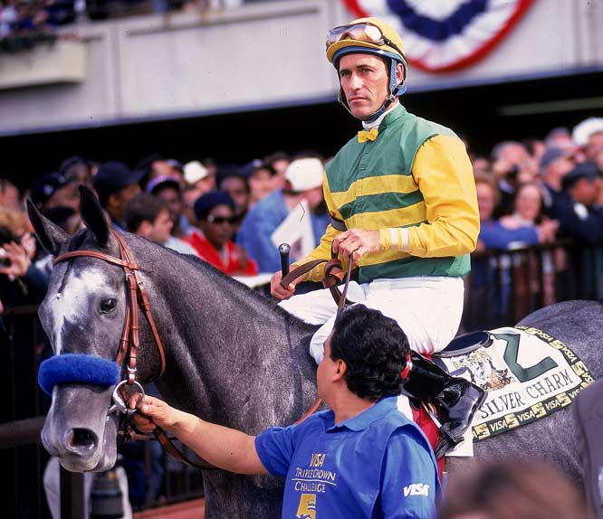 Just three days before the Belmont, Stevens  ''guaranteed''  a victory for Silver Charm, who was seeking the Triple Crown.    Result:  Silver Charm lost to Touch Gold, who caught up in the last stretch, took Silver Charm's lead and won by 3/4 of a length.