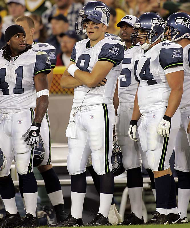 After winning the overtime coin toss:  ''We want the ball, and we're going to score.''    Result:  A Hasselbeck pass went for a touchdown -- but for the wrong team. Green Bay's Al Harris intercepted the ball and returned it for the game-winning touchdown, the first overtime game won by a defensive interception.