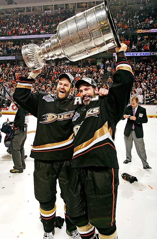 Scott had already won three Stanley Cups with the New Jersey Devils by the time the defenseman went to Anaheim as a free agent in 2005. There, Scott teamed with brother Rob to win a title with the Ducks in 2007, becoming the first brothers to win the Cup together since Brent and Duane Sutter with the Islanders in 1983.
