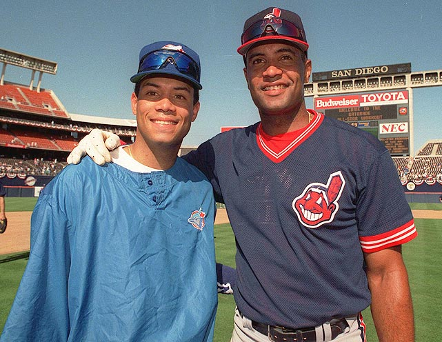 Another baseball family, brothers Sandy and Roberto both played in the majors only after father, Sandy Sr., blazed the trail for them. Both played on the Indians from 1999-2000 with Jaret Wright, whose father, Clyde, played with Sandy Sr. with the California Angels from 1969-73.