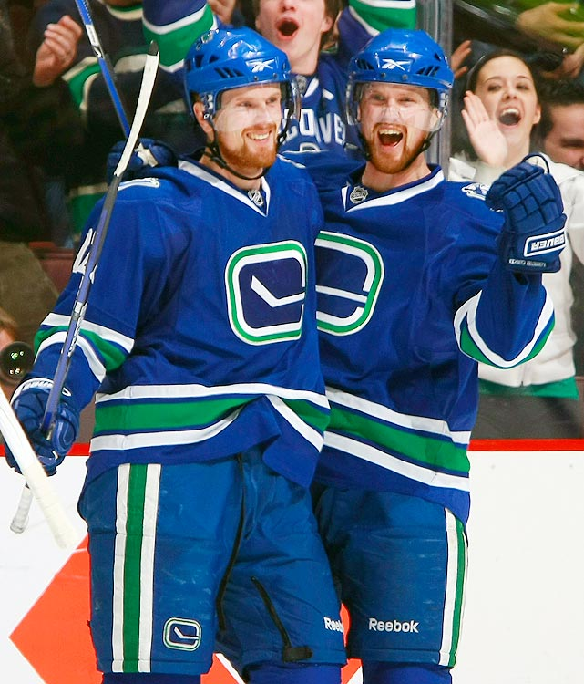 Learning to trust your teammates can be difficult. When your teammate is your identical twin though, it becomes infinitely easier. Henrik and Daniel have played together for their entire career, and their styles perfectly compliment one another: Henrik is the playmaker, and Daniel buries pucks in the net.