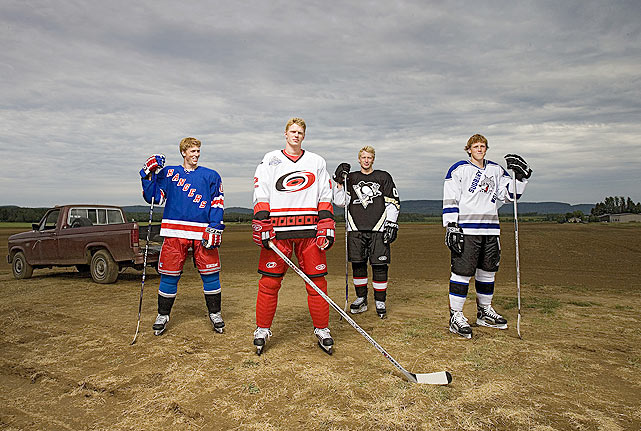 If you want to make it to the NHL, being a Staal brother is a good start. Eric was drafted by the Carolina Hurricanes in 2003; Marc by the New York Rangers in 2005; Jordan by the Pittsburgh Penguins in 2006; and youngest brother Jared by the Phoenix Coyotes in 2008. On April 25, 2013, Eric, Jordan and Jared started a game on a line for Carolina -- the 10th time in North American pro sports history that three brothers have played for the same team during the same season -- vs. the Rangers. (Marc sat out due to an eye injury.)