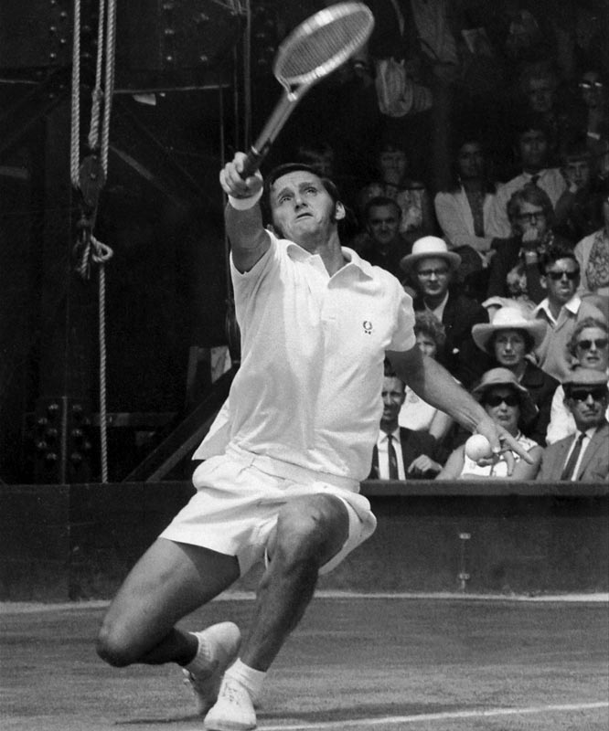 Emerson, an Aussie who remains the only male player to win singles and doubles titles at all four major tournaments, completed his Career Grand Slam with a 6-4, 12-10, 4-6, 6-3 victory over Fred Stolle at Wimbledon in 1964.