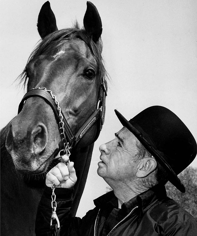 """After Majestic Prince topped Arts and Letters by a neck and a head in the Derby and Preakness, trainer Johnny Langdon announced the horse had a tendon injury and would not race for the Triple Crown. Under intense pressure, including a Sports Illustrated article, """"The Prince Ducks the Big One,"""" the horse's owner ran Prince in the Belmont, where Arts and Letters bested the weakened horse by 5 1/2 lengths. Also narrowly missing the Triple Crown, but not pictured in this gallery, were Forward Pass (1968), Kauai King (1966), Northern Dancer (1964), Carry Back (1961) and Tim Tam (1958)."""