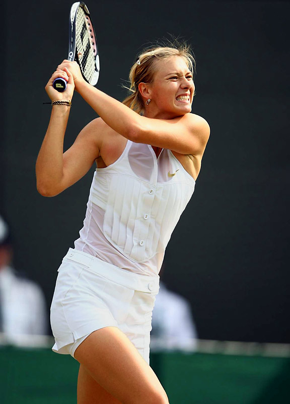 From Maria Sharapova's menswear-inspired tuxedo top and shorts to Roger Federer's herringbone cardigan, Wimbledon 2008 has its share of tony tailoring. The All England Club's rules require that the players wear mostly white, conservative apparel. Despite the restrictions, there have been flashes of interesting fashion this year.