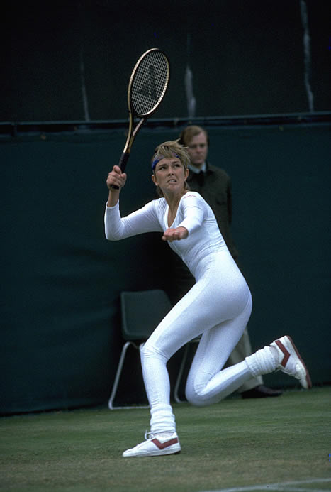 Anne White unintentionally made headlines with a white, full body lycra jumpsuit. To the umpire's request, White changed her outfit to finish the delayed match (for bad light) the next day.