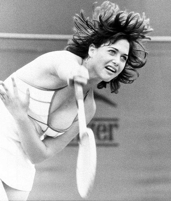 "Tennis fans (mostly men) remember Linda Siegel not for her loss to Billie Jean King in the second round of her Wimbledon debut,  rather her low cut top--or lack thereof. After serving the young Californian reportedly ""fell out"" of her dress. Next day headlines read ""Thanks for the mammary."""