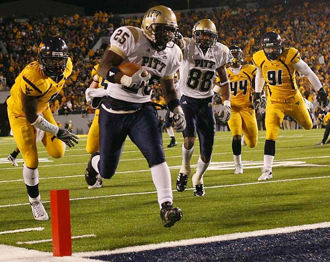 One win shy of the BCS title game, the Mountaineers couldn't come through in the 100th Backyard Brawl. West Virginia was a four-touchdown favorite, but an injury to QB Pat White stalled the Mountaineers' offense at the worst possible time. West Virginia became the sixth No. 2 to lose to an unranked team in 2007. It ended up being Rich Rodriguez's last game at WVU.