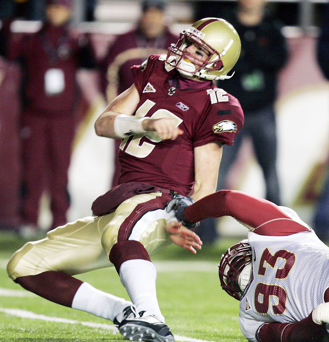 Entering Week 10, the Eagles were on their way to a BCS title game appearance and Matt Ryan was a serious Heisman Trophy candidate. But both went up in flames when Ryan threw three interceptions (the third one was returned for a touchdown with just 1:10 to play) in BC's loss to the Seminoles.