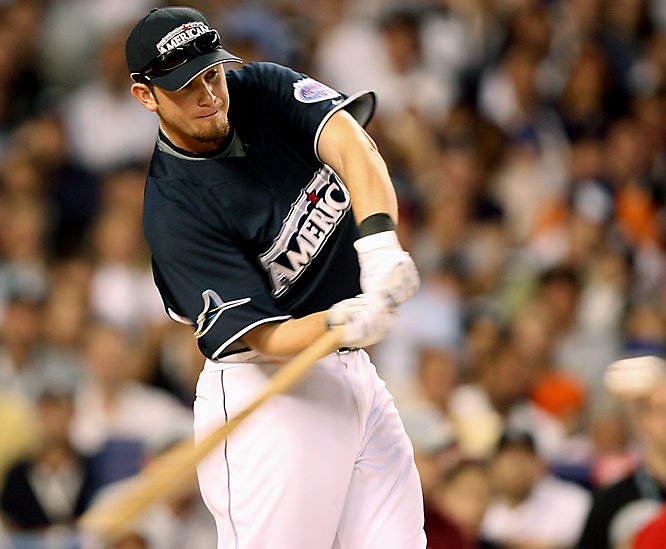 Evan Longoria was the first rookie to participate in the Derby since Nomar Garciaparra in 1997, but that was the highlight of his night. He finished dead last with three home runs.