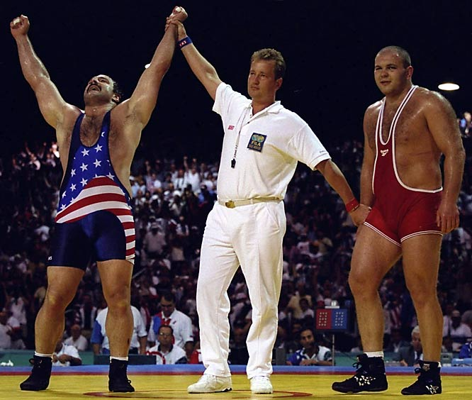 Chosen to carry the American flag and captain the U.S. Olympic Team at the 1996 Games, Baumgartner made it quite obvious why he was honored with such a task. As a four-time Olympian, the super heavyweight wrestler had garnered two gold medals (one in 1984, one in 1992) and a silver medal (1988) before taking the bronze medal at the Atlanta Games.