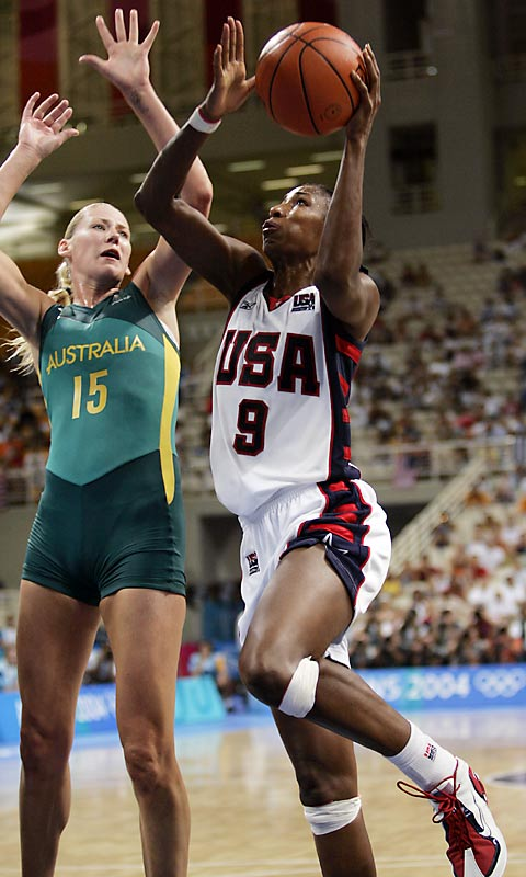 Arguably the best player in the Women's National Basketball Association, Leslie was also the best Olympic player for the U.S. team. Having led the American squad to three-consecutive gold medals from 1996 to 2004, Leslie holds team records for most points in an Olympic game (35), most field-goals made in a game (16) and is tied for most blocked shots (3), which she achieved twice.
