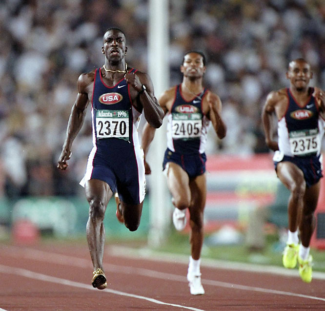 Remembered both for his golden shoes and his speed, Johnson owns four gold medals. At the 1996 Games in Atlanta, he became the only male athlete to strike gold in the 200 and 400 in the same Olympics.