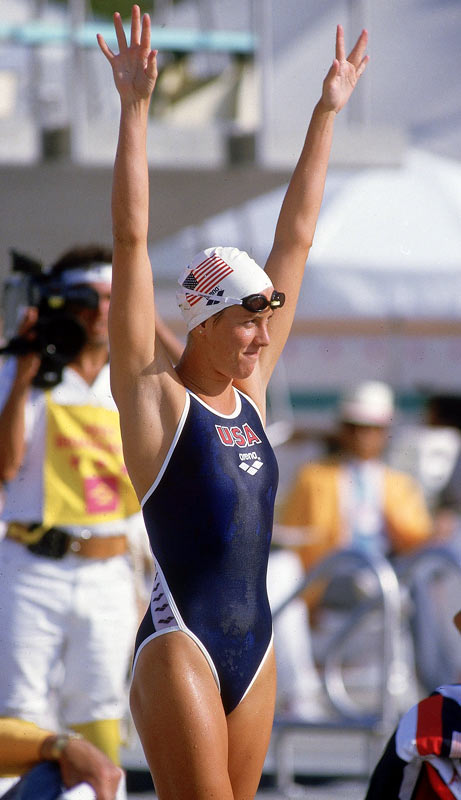 A three-time gold-medalist in the 200-meter, 400-meter and 4x100-meter medleys at the 1984 Olympics, Caulkins is remembered as one of the greatest all-around swimmers. Having set records in all four strokes -- the freestyle, breaststroke, backstroke and butterfly -- Caulkins potentially could have earned more Olympic medals had the U.S. not boycotted the 1980 Games.