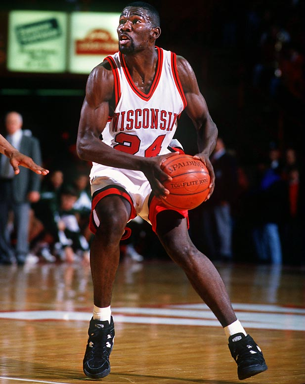 Before becoming a two-time NBA All-Star, Finley became the first Badger to score 2,000 points. His 2,147 points make him the 12th-leading scorer in Big Ten history and the only Badger to average more than 20 points per game in three different seasons. He was a three-time honorable mention All-America.